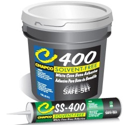 CHAPCO SS-400 4G PAIL SOLV-FREE PREMIUM WHITE COVE BASE ADHESIVE