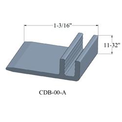 JOHN CDB-00-A 12' VINYL TRIM SINGLE FLANGE TRACK