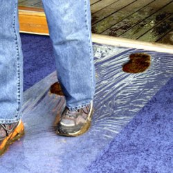 "POWERHOLD CS36250 REVERSE WOUND 36""x250' CLEAR CARPET SHIELD"