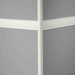 JOHN CHR 01 SNOW WHITE 80u0027 MILLWORK FORTIS CHAIR RAIL