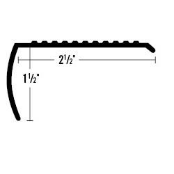ANCHOR 399Y-SBA 12' BRASS 12' STAIR NOSE WIDE
