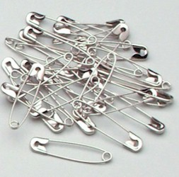 CHALLENGER #124 3C 10,000/BOX NICKEL PLATED STEEL SAFETY PINS