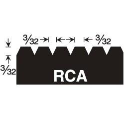 GUNDLACH IJ-RCA 3/32x3/32x3/32 V INJECTA NOTCH TROWEL BLADE