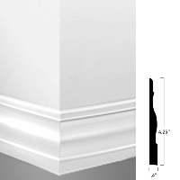 JOHN MW-194-T ANTIQUE WHITE 48' MILLWORK 4.25
