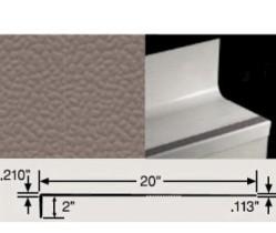 JOHN VIHTR-40 4' SQ BLACK w/ STD GREY GRIT STRIP HAMMERED RUBBER TREAD/RISER