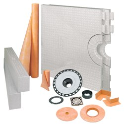 "SCHLUTER KKB81152PVCEP KERDI-SHOWER KIT 32""x60"" OFF CENTER CHROME - PVC"