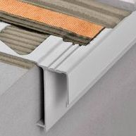 SCHLUTER RAK50-BW BARA-RAK BALCONY EDGE w/ DRIP LIP ALUMINUM COATED BRIGHT WHITE