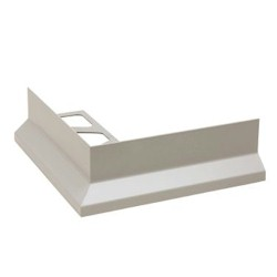 SCHLUTER E90/RK65-BW BARA-RK OUT CORNER ALUMINUM COATED BRIGHT WHITE