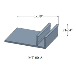 JOHN MT-00-A 12' METAL PINLESS METAL TRACK