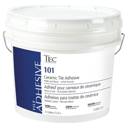 TEC 101-03 GALLON CERAMIC TILE ADHESIVE TYPES I & II