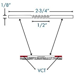 """ANCHOR EJC-048 50 ROLL GREY 2-3/4""""x1/8"""" EXPANSION JOINT COVER"""