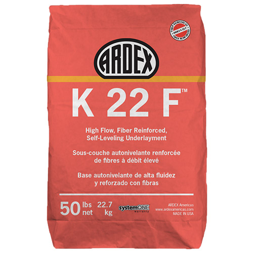 ARDEX K-22-F 50# SELF LEVEL HIGH FLOW FIBER REINFORCED SELF-LEVELING UNDERLAYMENT