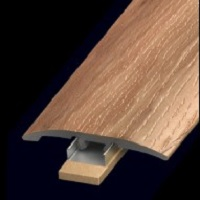 "NOVA VERSATRIM NFM-104179PT 94"" SLIM TRIM PVC T-MOLD PECAN RUSTIC PINE *INCLUDES SLIM TRACK*"