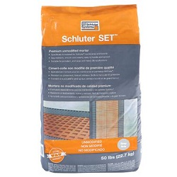 SCHLUTER SET 50# BAG GRAY PREMIUM UNMODIFIED THIN-SET MORTAR
