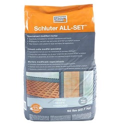 SCHLUTER ALL-SET 50# BAG WHITE SPECIALIZED MODIFIED THIN-SET MORTAR