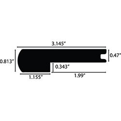 "AM VALUES 4240778-012 6.5 1/2"" STAIR NOSE SPIRIT"