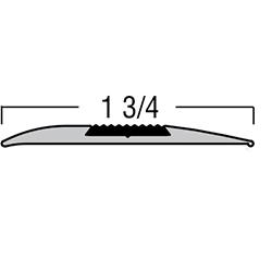"TREDSAFE DT029 NATURAL SATIN 8.2 RAMP TRANSITION FOR EVEN HEIGHT FLOORS *1/2"" INSERT SOLD SEPARTELY*"