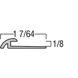 """TREDSAFE DT067 NATURAL SATIN 8.2 LVT TRANSITION 1/8"""" TO BARE FLOOR CONTOURED"""