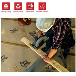 """SURFACE SHIELD BLDPE35100 22mil 35""""x100 ROLL PROJECT EDITION BUILDER BOARD ** 120 ROLL MINIMUM *"""