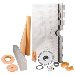"SCHLUTER KK97PVCEP PVC CHROME KERDI-SHOWER KIT 38""x38"" KIT"