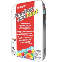 MAPEI PLANITOP 330 FAST 50# BAG QUICK SETTING FIBER REINFORCED CEMENTITIOUS RENDERING MORTAR