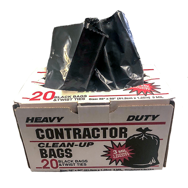 HD CONTRACTOR CLEANUP BAGS 3mil 33