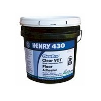 HENRY 430 CLEAR PRO GALLON CLEAR THIN SPREAD VCT ADHESIVE