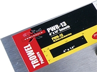POWERHOLD PWR-13 TROWEL ERGO GRIP 4x14 FLAT FINISHING