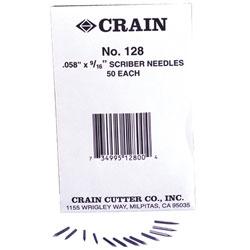 CRAIN 128 SCRIBER NEEDLES 50pk