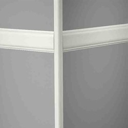 JOHN CHR-48-C GREY 40' MILLWORK RAMPART CHAIR RAIL