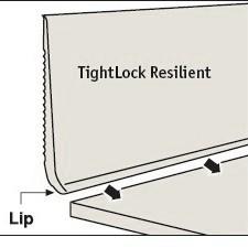 JOHN TDCR-15 6-3/8x75 COIL 75' RUB TIGHTLOCK RESIL BASE CABERNET