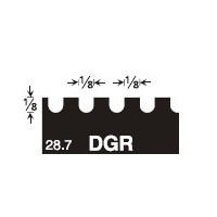 GUNDLACH IJ-DGR 1/8x1/8x1/8 U INJECTA NOTCH TROWEL BLADE