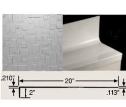 JOHN CUBTR-20 4.5' SQ CHARCOAL CUBIS RUBBER TREAD/RISER