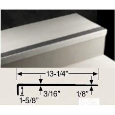 JOHN VISN-32 4' SQ PEBBLE w/ STD BLACK STRIP VI SMOOTH S/W RUBBER TREAD