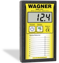 WAGNER MMC-220 WOOD MOISTURE METER EXTENDED RANGE MOISTURE METER