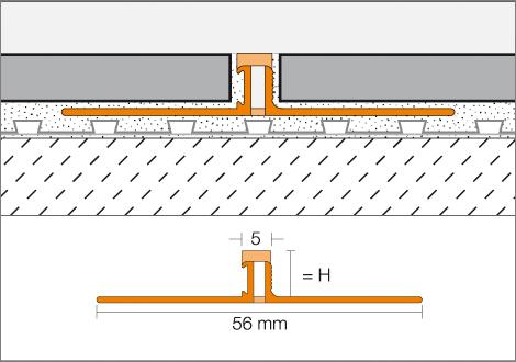 SCHLUTER BWS125-HB DILEX-BWS 3/16