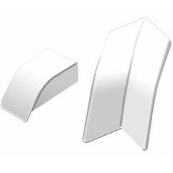SCHLUTER EKI/AS20BW DILEX-AS PERIMETER JOINT CORNER KIT PVC BRIGHT WHITE 2 INSIDE CORNERS, 1 END CAP RIGHT, 1 END CAP LEFT