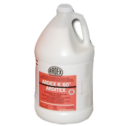 ARDEX ARDITEX K60 2-PART 1 GALLON LIQUID ULTRA RAPID SETTING LATEX SUB-FLOOR LEVELING & SMOOTHING