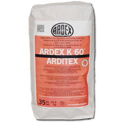 ARDEX ARDITEX K60 2-PART 35# BAG POWDER ULTRA RAPID SETTING LATEX SUB-FLOOR LEVELING & SMOOTHING