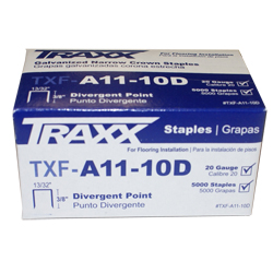"TRAXX A11-10D 5m BOX 3/8"" PAD STAPLES"