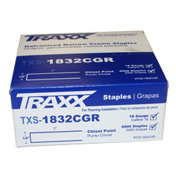 "TRAXX 1832CGR 5m BOX 1"" UNDERLAYMENT STAPLES"