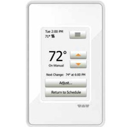 SCHLUTER DHE-RT102/BW DITRA-HEAT-E-RT TOUCH SCREEN PROGRAMMABLE DIGITAL THERMOSTAT BRIGHT WHITE