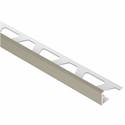 SCHLUTER A125-G JOLLY EDGE TRIM 1/2 ALUMINUM COATED GREY