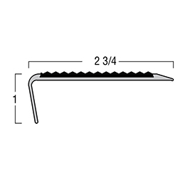 TREDSAFE AA125 NATURAL SATIN 4' STAIRNOSE RIGHT ANGLE NOSE * 2-1/8