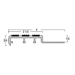TREDSAFE AA351 NATURAL SATIN 8.2' STAIRTREAD * 3ea 1/2