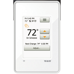 SCHLUTER DHE-RT104/BW DITRA-HEAT-E-WIFI PROGRAMMABLE WIFI DIGITAL THERMOSTAT BRIGHT WHITE
