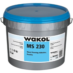WAKOL MS-230 3G PAIL WOOD FLOORING ADHESIVE FLEXIBLE