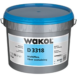 WAKOL D-3318 MULTIFLEX 2.5G PAIL FIBER CONTAINING RESILIENT ADHESIVE