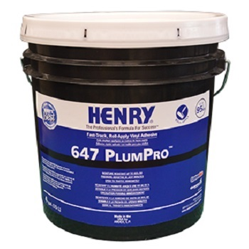 HENRY 647 PLUM PRO 4G PAIL FAST-TACK ROLL APPLY VINYL ADHESIVE