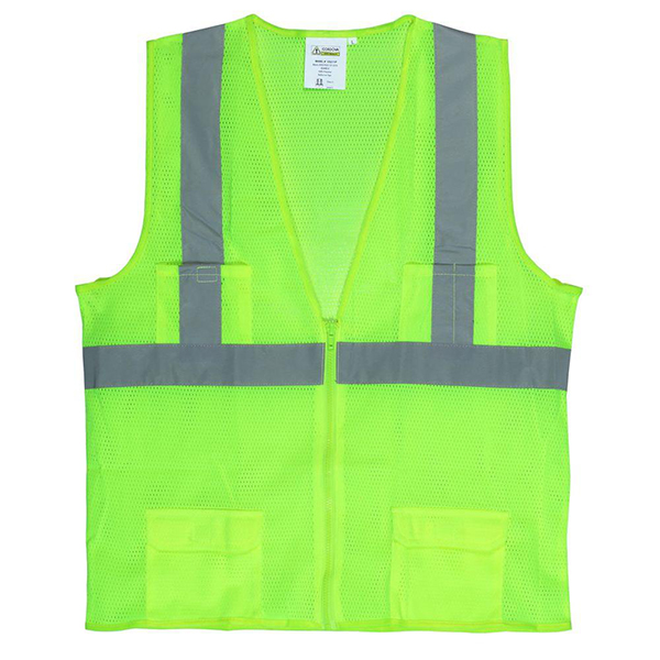 FLOOR DOT T13-0600-XL XL SAFETY VEST LIME ANSI/ISEA 107-2015